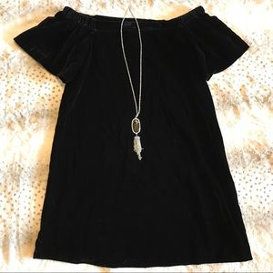 c7c836ad020d LOFT Dresses - LOFT Velvet Off The Shoulder Swing Dress NWT